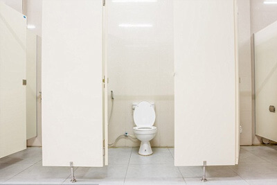 What to do when you clog a public toilet